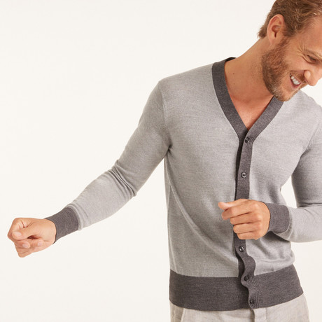 Wool Cardigan V-Neck // Light Gray (XS)