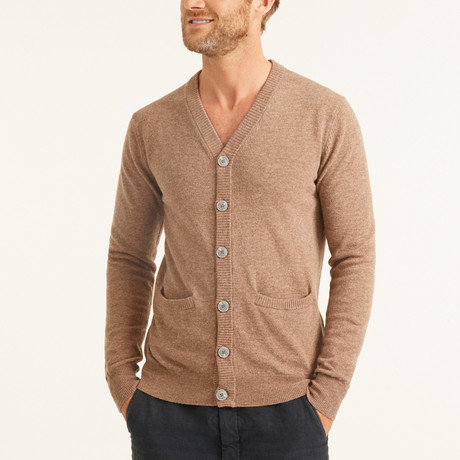 V-Neck Cardigan // Brown (S)