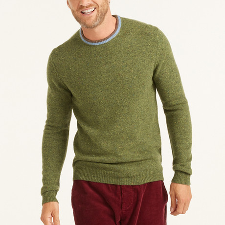 Wool Pullover Round Neck // Green (S)
