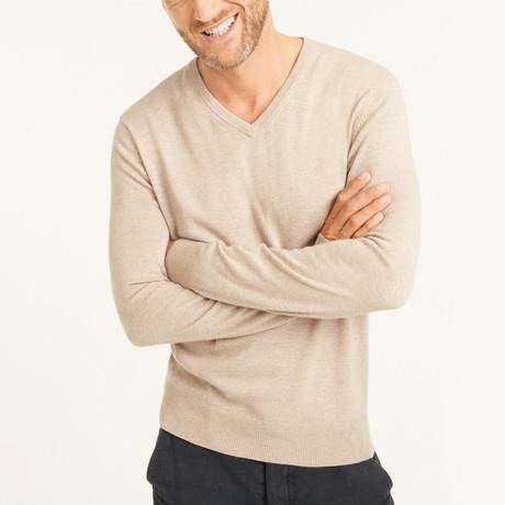 V-Neck Pullover // Beige (S)