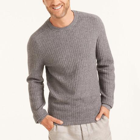 Knit Crew Neck Pullover // Medium Grey (S)