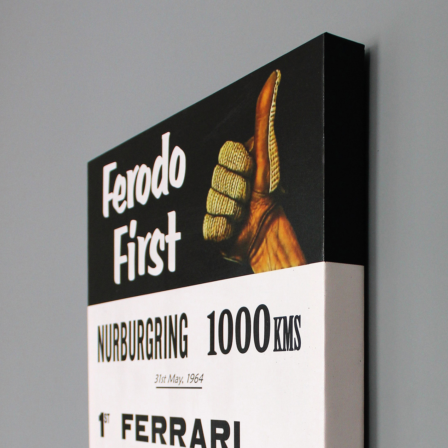 Nurburgring 1000 Km Ferodo 1964 Advertisement 18 W X 24 L X 1 625 D Nerocavallo Touch Of Modern