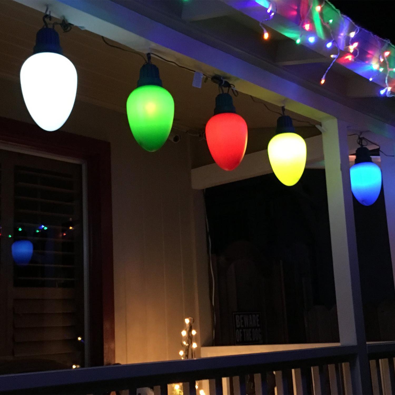 Oversized Christmas Lights Set Of 10 Blue