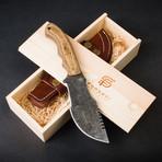 Grizzly Adams Handmade Damascus Steel Tracker Knife