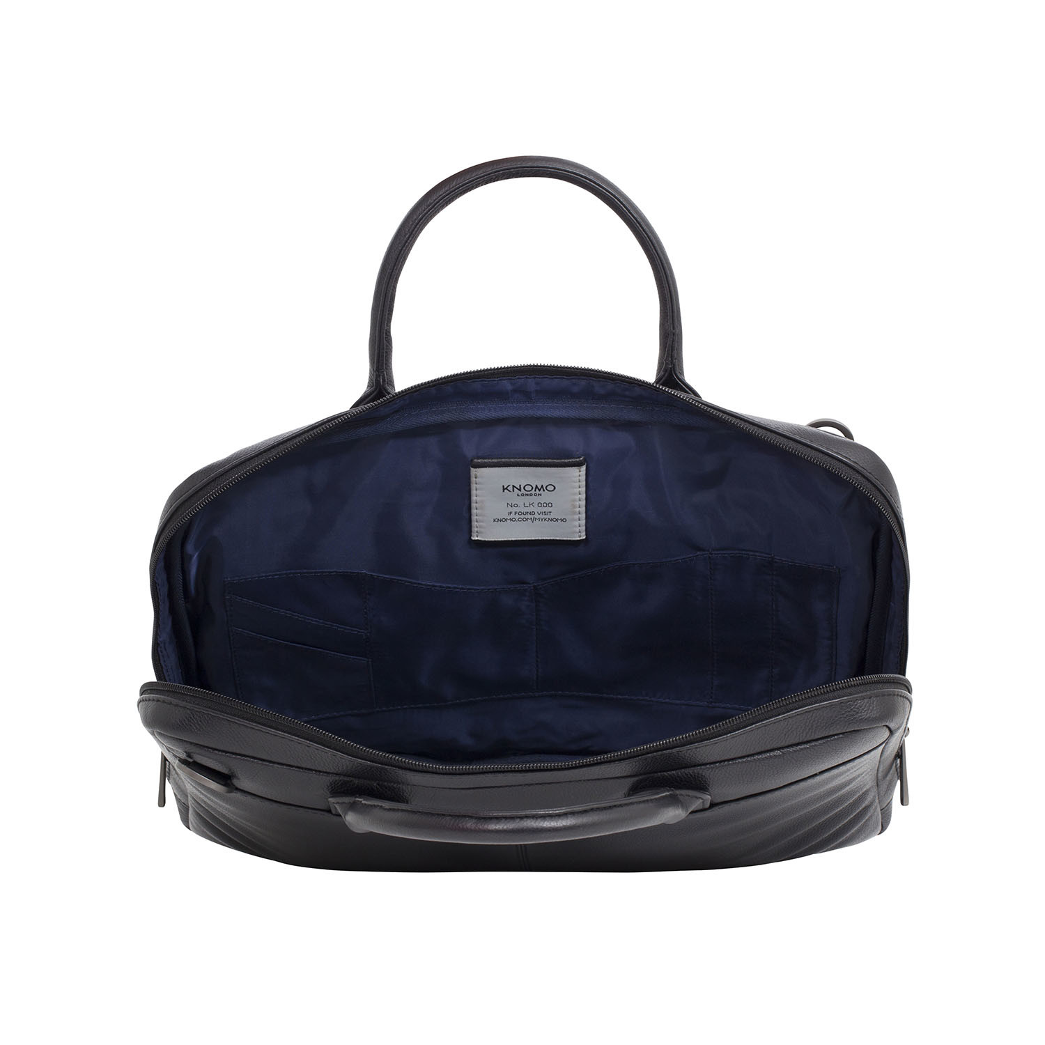 Foster Leather Latop Briefcase Black Knomo Bags
