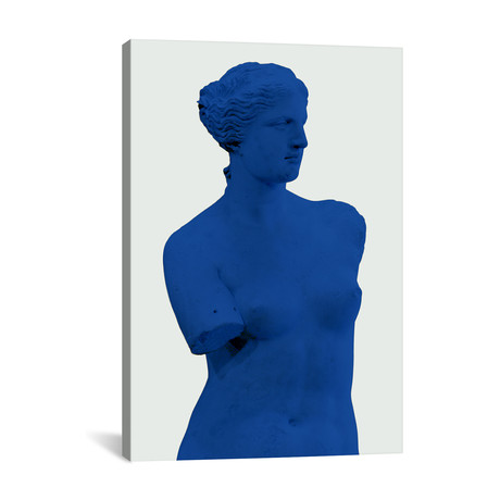 "Modern Art - Venus de Milo Blue // 5by5collective (18""W x 26""H x 1.5""D)"