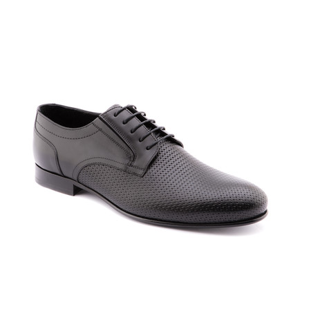 Texture Plain-Toe Derby // Black (Euro: 40)