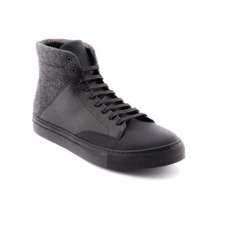 High-Top Sneaker // Black
