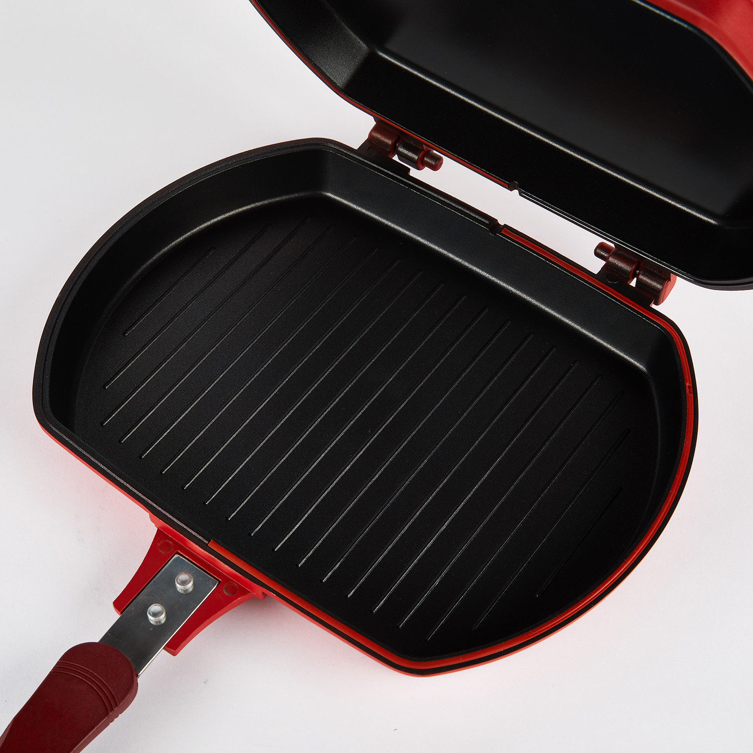 double sided multi purpose grill pan vie belles touch of modern. Black Bedroom Furniture Sets. Home Design Ideas