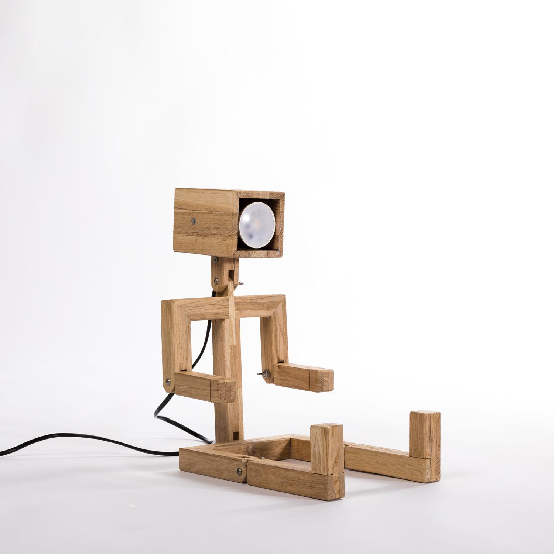 Jaffu Articulated Wooden Desk Lamp Lune Et Animo