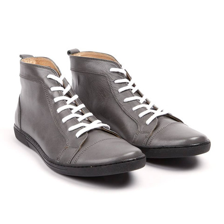 Nerino Leather High Top Sneaker // Grey (UK: 6.5)