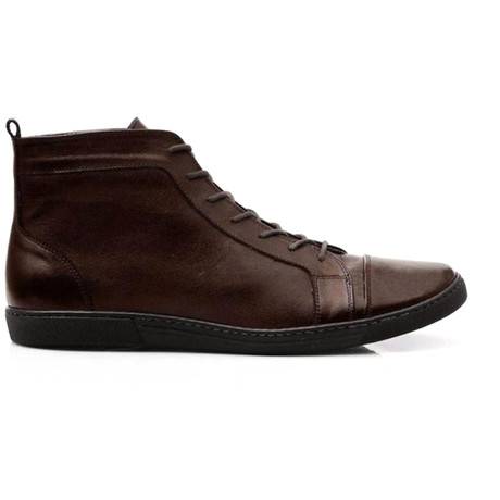 Mexico Leather High Top Sneaker // Dark Brown (UK: 6.5)