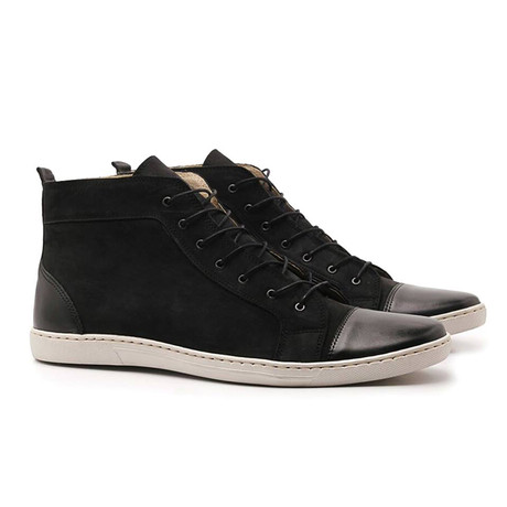 Cap Toe High Top Sneaker // Black (UK: 6.5)