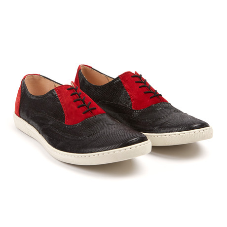 Sport Oxford // Black + Red (UK: 6.5)