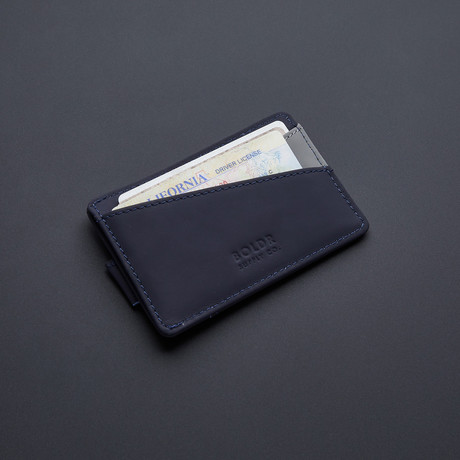 BOLDR Slim Wallet 2.0 // Blue + Grey