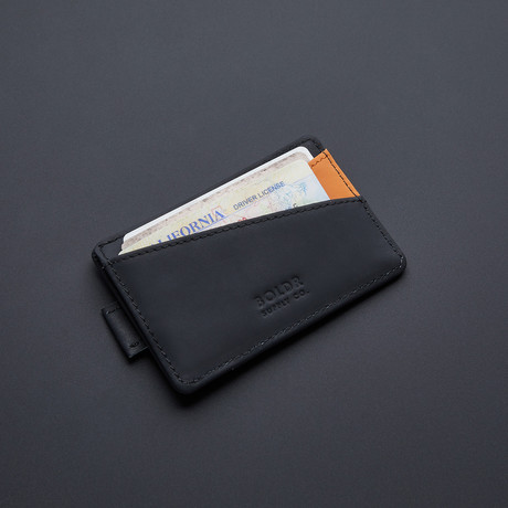 BOLDR Slim Wallet 2.0 // Black + Brown