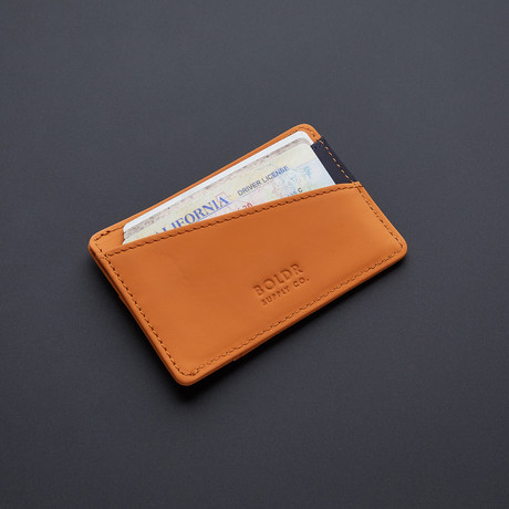 BOLDR Slim Wallet 2.0 // Brown + Blue