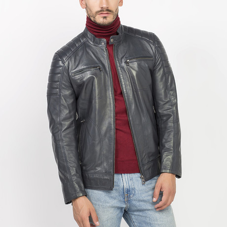 Elles Leather Jacket // Antracite (S)