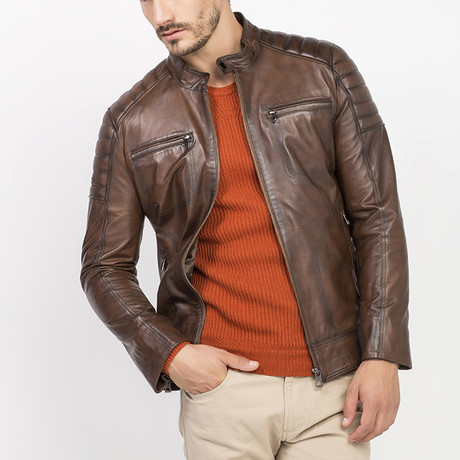 Elles Leather Jacket // Brown (S)