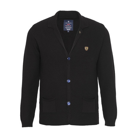 Shawl Collar Cardigan // Black (S)