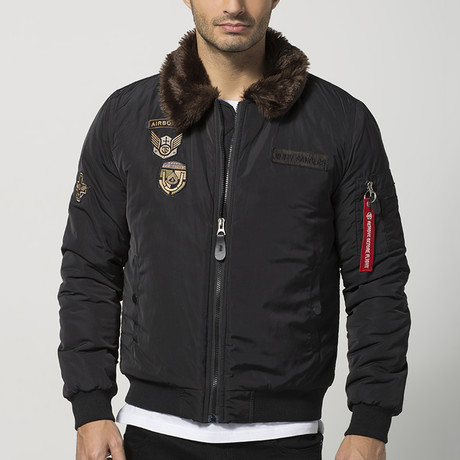 Shearling Aviator Jacket // Black (S)