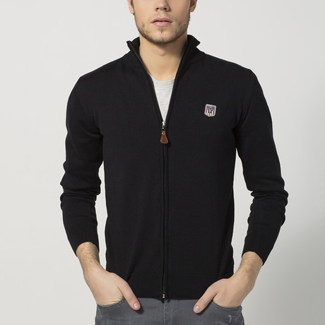 Zip-Up Sweater // Black (S)