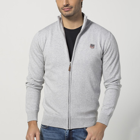 Zip-Up Sweater // Grey Melange (S)