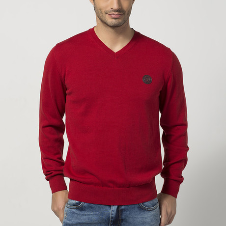 V-Neck Sweater // Bordeaux (S)
