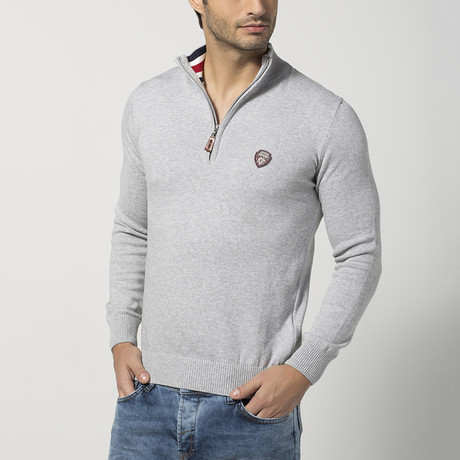 Half-Zip Sweater // Grey (S)