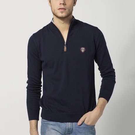 Half-Zip Sweater // Navy (S)