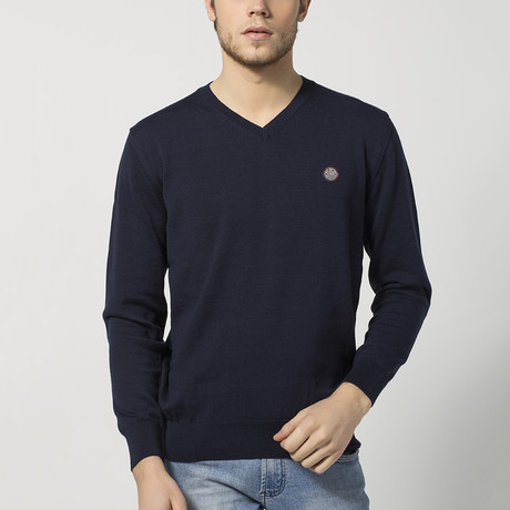 V-Neck Sweater // Navy (S)