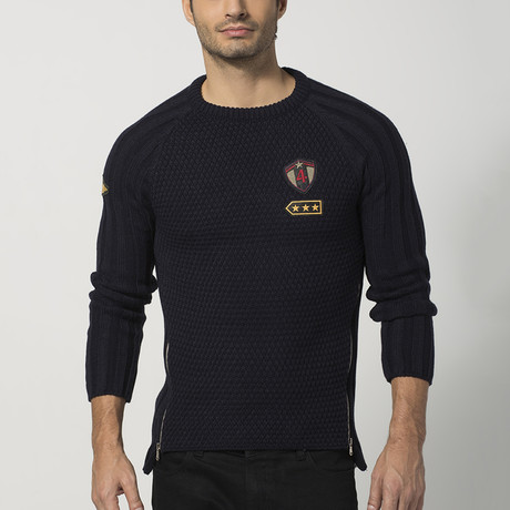 Side-Zip Sweater // Navy (S)