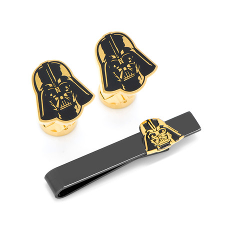 Darth Vader Canto Bight Cufflinks and Tie Bar Gift Set