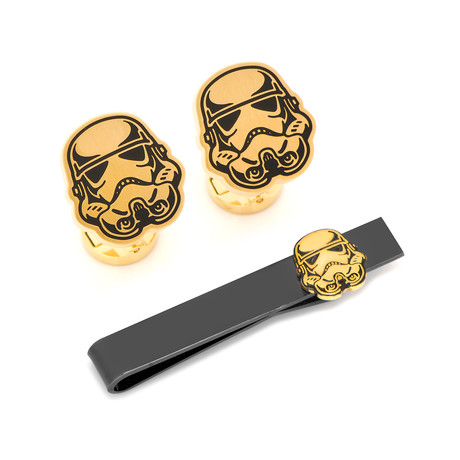 Stormtrooper Canto Bight Cufflinks and Tie Bar Gift Set