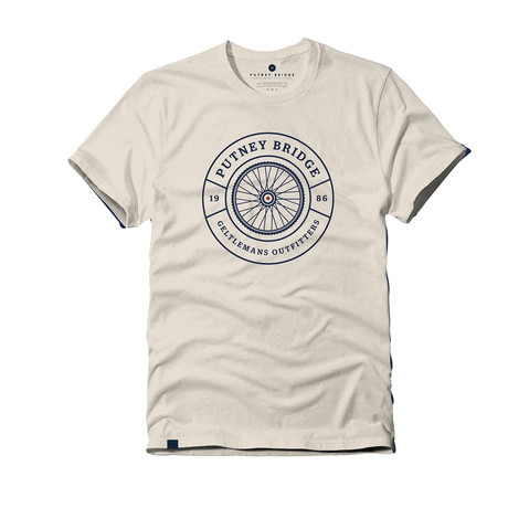 Cycle Emblem Tee // White