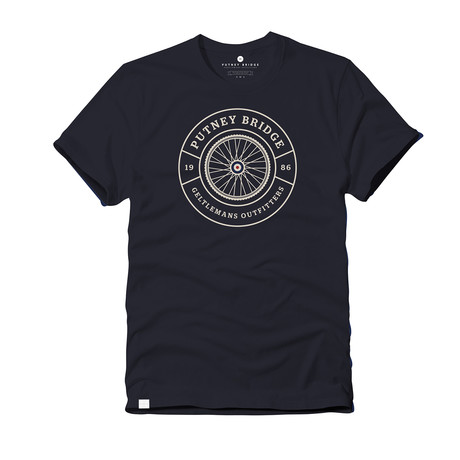 Cycle Emblem Tee // Navy (S)