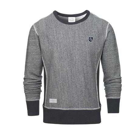 PB Badge Crew Sweatshirt // Gray + Dark Gray (S)