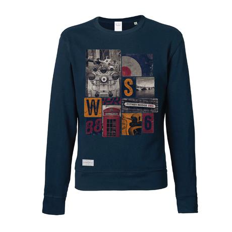 London Icons Crew Sweatshirt // Navy