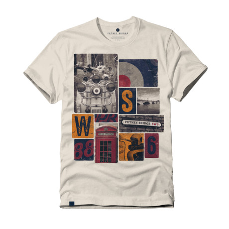 London Icons T-Shirt // Vintage White (S)