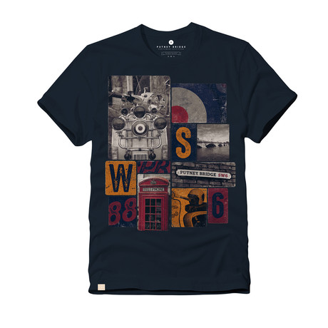 London Icons Tee // Navy (S)