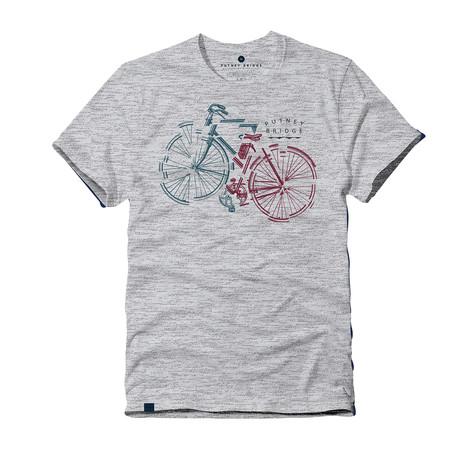 Bike Segment Tee // Gray Marl