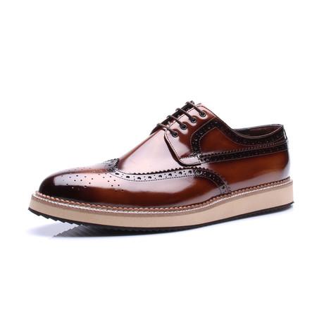 Wing-Tip Dress Shoe // Tobacco (Euro: 39)