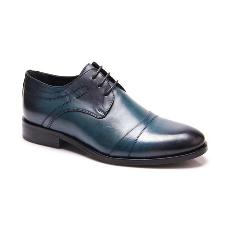 Detailed Cap-Toe Derby // Turquoise (Euro: 39)