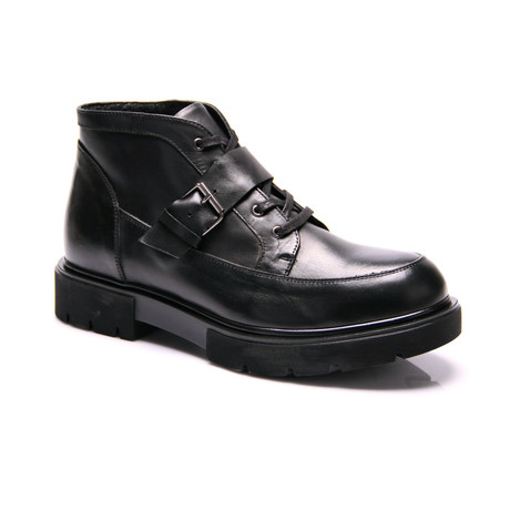 Strapped Boot // Black (Euro: 39)