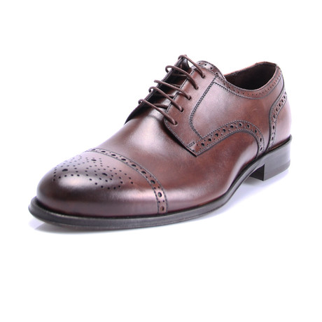 Reprise // Matte Wingtip Cap Toe Derby // Brown (Euro: 40)