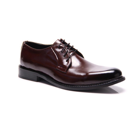 Reprise // Patent Plain Toe Derby // Bordeaux (Euro: 40)