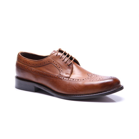 Medallion Wing-Tip Derby // Tobacco (Euro: 39)