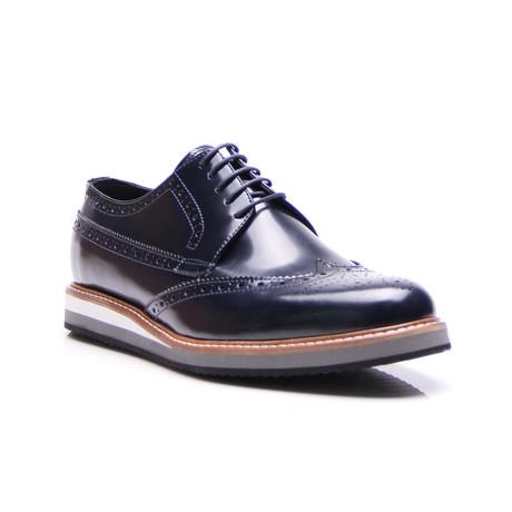 Medallion Wing-Tip Shoe // Dark Navy (Euro: 39)
