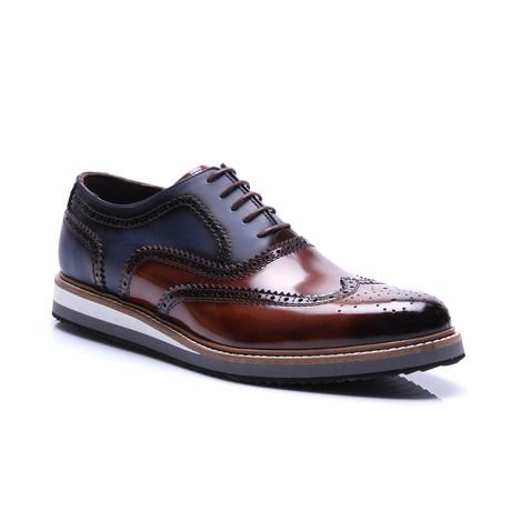 Two-Tone Wing-Tip Shoe // Mudo + Dark Blue
