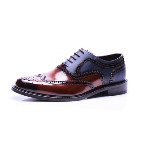 Reprise // Two-Tone Wingtip Oxford // Mudo + Dark Blue (Euro: 40)